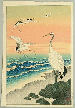 小原古邨: Cranes on Seashore - Artelino