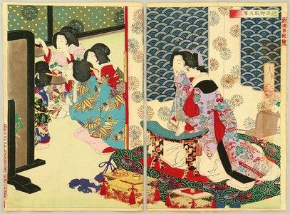 月岡芳年: Drinking Party at Koshida Palace - Artelino
