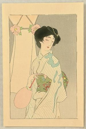 Hirezaki Eiho to Attributed: Beauty in Summer Kimono - Artelino