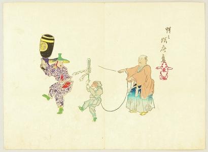Kawanabe Kyosai: Monkey Dance - Artelino