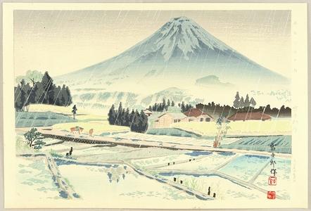 徳力富吉郎: Thirty-six Views of Mt.Fuji - Foot of Mt.Fuji - Artelino
