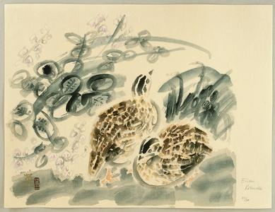 Kotozuka Eiichi: Quails and Bush Clover - Artelino