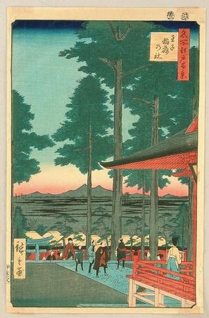 Utagawa Hiroshige: Meisho Edo Hyakkei - Oji Inari no yashiro - Artelino