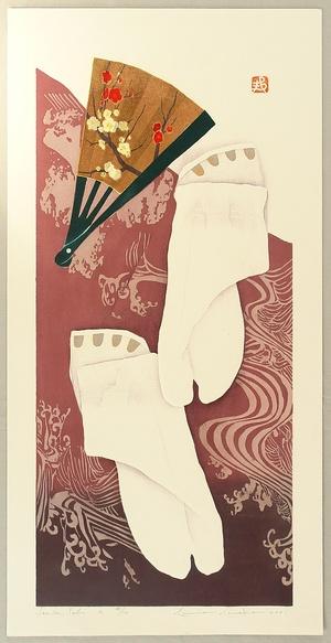Kaneko Kunio: Folding Fan and Socks - 2 - Artelino