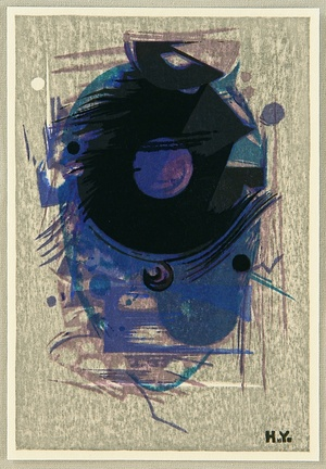 Yoshida Hodaka: Blue Abstract - Artelino