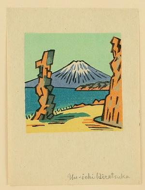 Hiratsuka Unichi: Mt. Fuji in Spring - Artelino