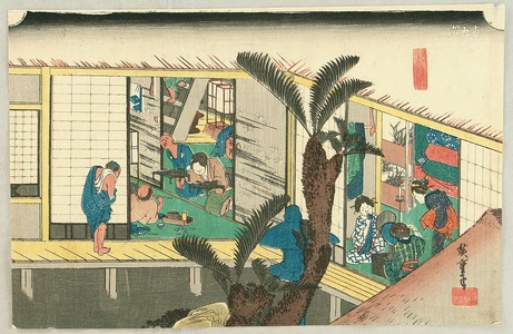歌川広重: Akasaka - Fifty-three Stations of the Tokaido (Hoeido) - Artelino