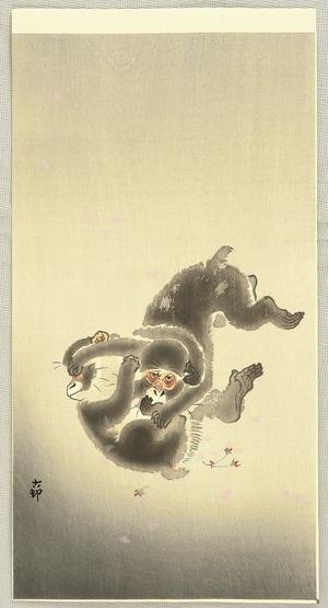 Ohara Koson: Fighting Monkeys - Artelino