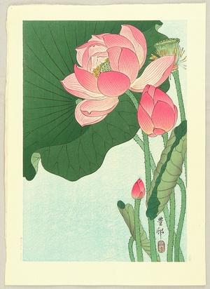 小原古邨: Flowering Lotus - Artelino