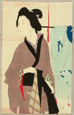 Kaburagi Kiyokata: Purple Kimono - Artelino