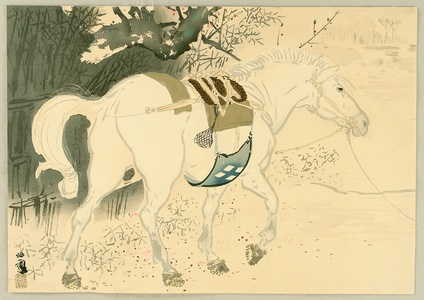Takeuchi Seiho: Twelve Zodiac Signs - Horse - Artelino