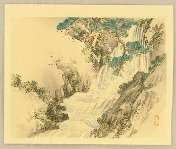 幸野楳嶺: Bairei Gadan - Waterfall - Artelino