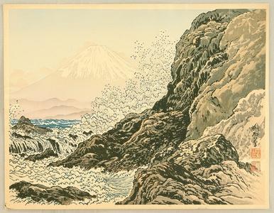 Jokata Kaiseki: Mt. Fuji and Rough Ocean - Artelino