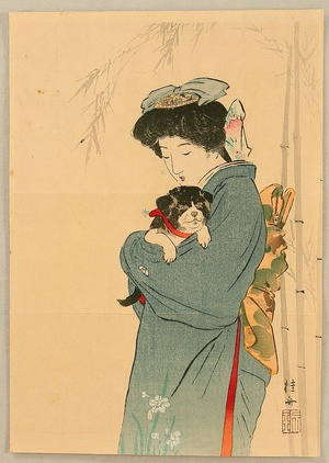 Takeuchi Keishu: Beauty and Puppy - Artelino