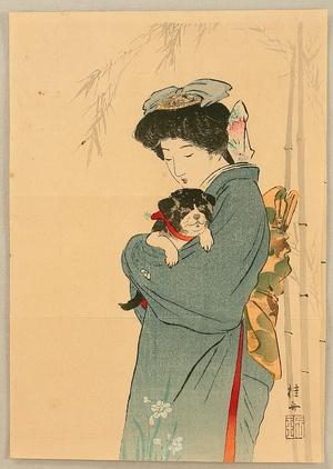 武内桂舟: Beauty and Puppy - Artelino