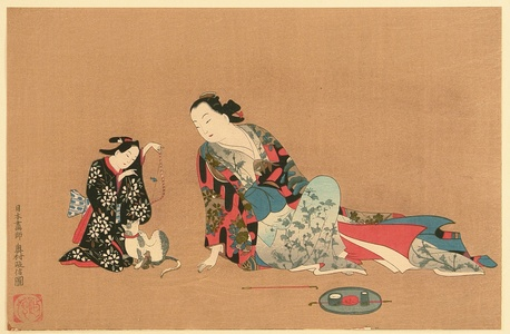 Okumura Masanobu: Beauty and Girl - Artelino