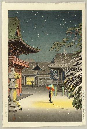 風光礼讃: Nezu Shrine in Snow - Artelino