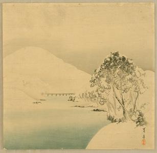 Watanabe Seitei: Snow Covered Mountains - Artelino