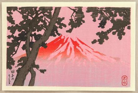 Kawase Hasui: Mt. Fuji seen from Tagonoura - Artelino