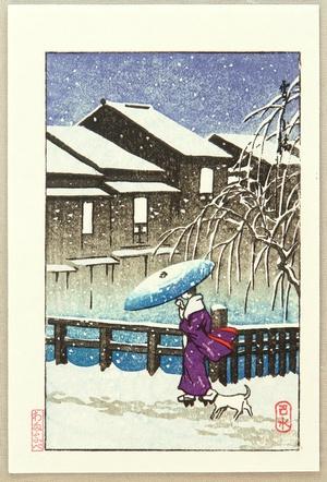 Kawase Hasui: Snowy Evening - Artelino