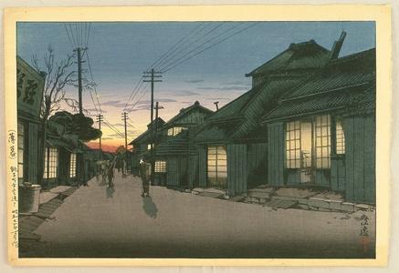 風光礼讃: Evening Glow at Choshi - Artelino