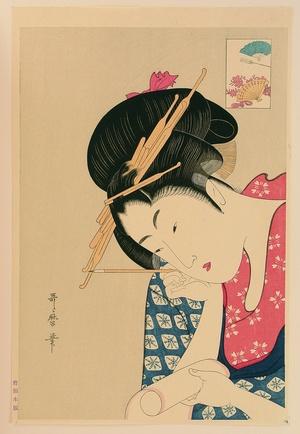 Kitagawa Utamaro: Writing a Letter - Artelino