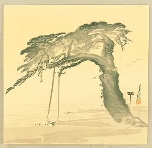 尾形月耕: Divine Pine Tree - Artelino