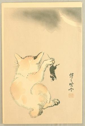 河鍋暁斎: Cat and Mouse - Artelino