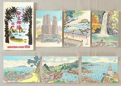 Ito Nisaburo: National Park Izu - 6 postcards - Artelino