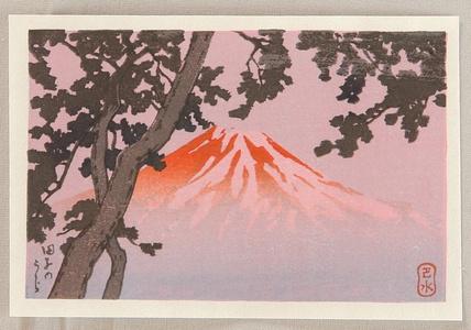 川瀬巴水: Mt. Fuji from Tagonoura - Artelino