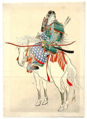 Ogata Gekko: Tomoe, the Female Warrior (Kuchi-e) - Artelino