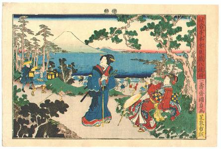 歌川国貞三代: 47 Ronin - Kanadehon Chushingura act. 8 - Artelino