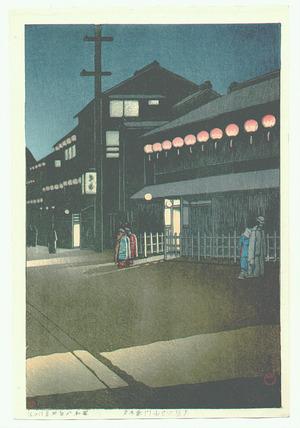 川瀬巴水: Soemoncho in Osaka - Artelino