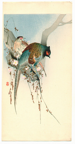 小原古邨: Two Pheasants - Artelino