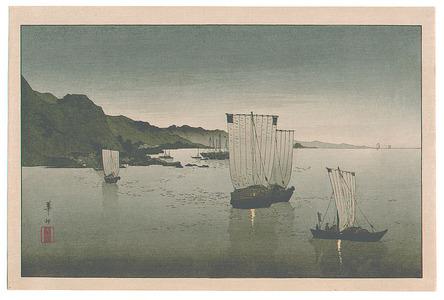 Suzuki Kason: Boats in the Harbor - Artelino