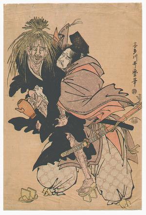 Kitagawa Utamaro: Tadamori and Oil Priest - Artelino