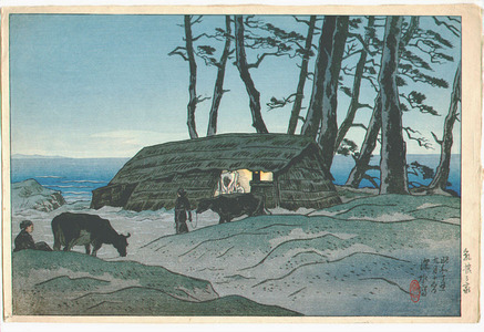 伊東深水: Milking Hut - Oshima Juni Kei - Artelino