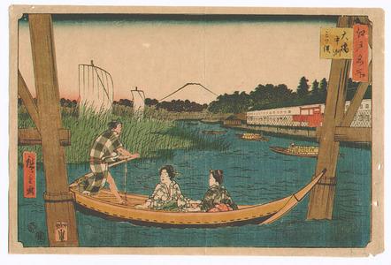 Utagawa Hiroshige: Oohashi - Edo Meisho - Artelino