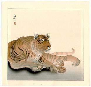 Ohara Koson: Reclining Tiger (Muller Collection) - Artelino