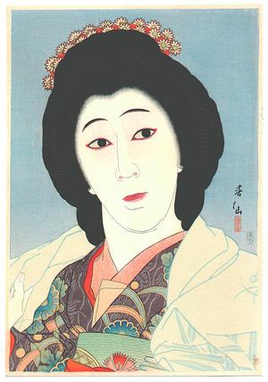 Natori Shunsen: Onoe Baiko as Sayuri - Thirtysix Kabuki Actors - Artelino