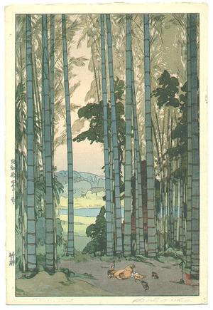 吉田博: Bamboo Grove - Takebayashi - Artelino