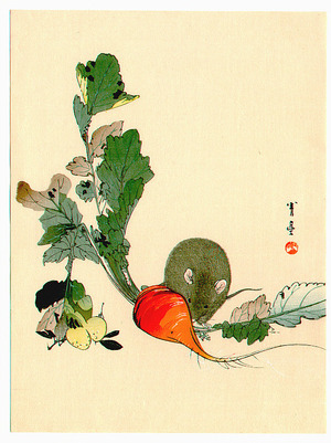 Watanabe Seitei: Mouse and Red Radish (Muller Collection) - Artelino