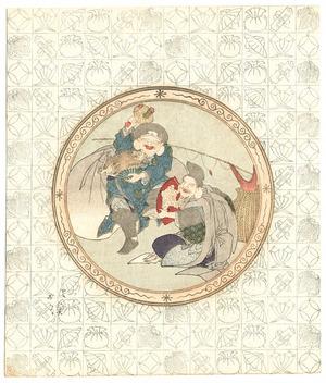 魚屋北渓: Daikoku and Ebisu - Seven Lucky Gods (surimono) - Artelino
