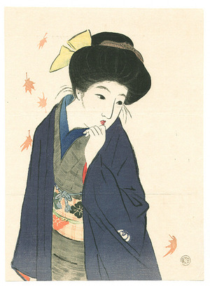 Takeuchi Keishu: Balmy Autumn Day (kuchi-e) - Artelino