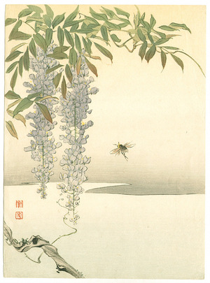 Koho: Wisteria and Bee (Muller Collection) - Artelino
