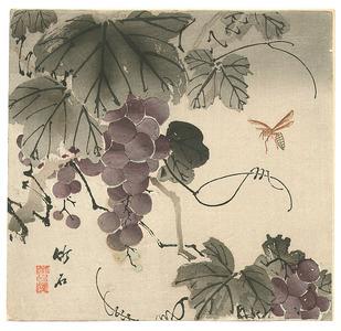長町竹石: Grape and Wasp (Muller Collection) - Artelino