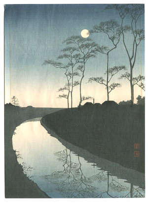 古峰: Canal by the Moonlight - Artelino
