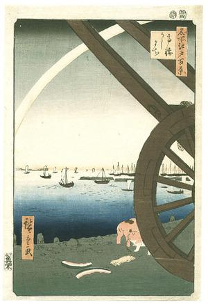 Utagawa Hiroshige: Ushimachi - Meisho Edo Hyakkei - Artelino