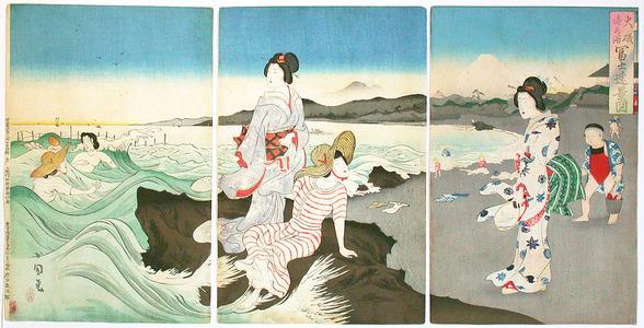 Utagawa Kokunimasa: Beach Party - Artelino