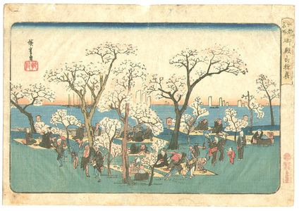 Utagawa Hiroshige: Picnic - Edo Meisho - Artelino